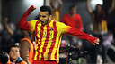 Pedro celebrates scoring in Cartagena / PHOTO: MIGUEL RUIZ-FCB
