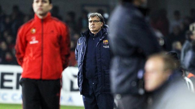 Martino, during the game against Cartagena. PHOTO: MIGUEL RUIZ - FCB