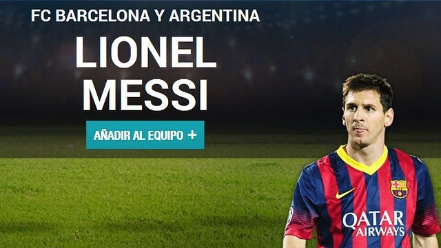 Messi, candidate to form part of the UEFA best eleven of 2013