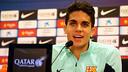 Marc Bartra, speaking in the press conference at the Ciutat Esportiva / PHOTO: MIGUEL RUIZ - FCB
