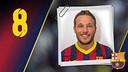 Imatge oficial de Víctor Tomás amb la samarreta del FC Barcelona