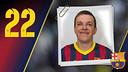 Imatge oficial de Rutenka amb la samarreta del FC Barcelona