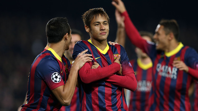Neymar scores against Celtic. PHOTO: MIGUEL RUIZ-FCB.