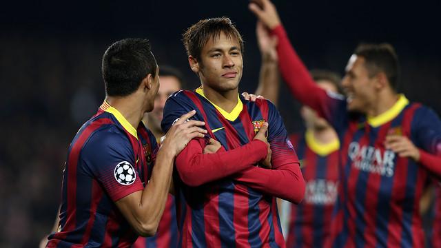 Neymar scores against Celtic. PHOTO: MIGUEL RUIZ-FCB.