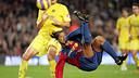 Ronaldinho's overhead kick against Villarreal (2006/07). PHOTO: MIGUEL RUIZ-FCB.