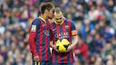 Neymar and Iniesta, in the game against Granada / PHOTO: MIGUEL RUIZ - FCB