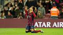 Neymar Jr celebrates one of his two goals / PHOTO: MIGUEL RUIZ-FCB