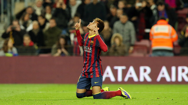 Neymar scored both FCB's goals this evening / PHOTO: MIGUEL RUIZ-FCB