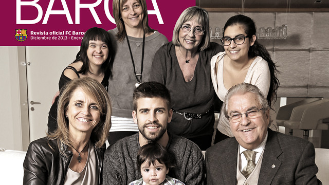 Family photo of the football player, married to Shakira, famous for FC Barcelona & Spanish National Squad.