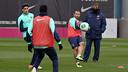 Training this Monday. PHOTO: MIGUEL RUIZ-FCB.