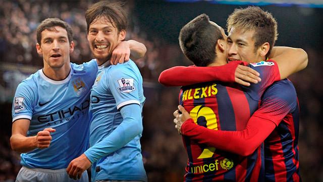 Fotomuntatge entre Navas, Silva, Alexis i Neymar