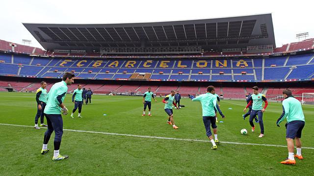 Training this Tuesday. PHOTO: MIGUEL RUIZ-FCB.