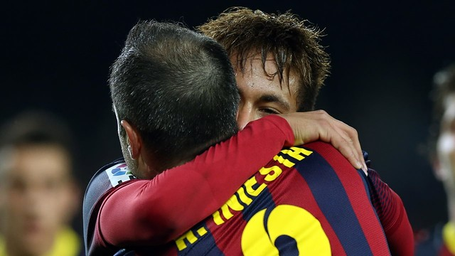 Iniesta and Neymar against Cartagena. PHOTO: MIGUEL RUIZ-FCB.