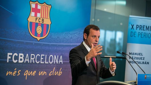 Sandro Rosell has reviewed the year at FCB / PHOTO: GERMÁN PARGA-FCB