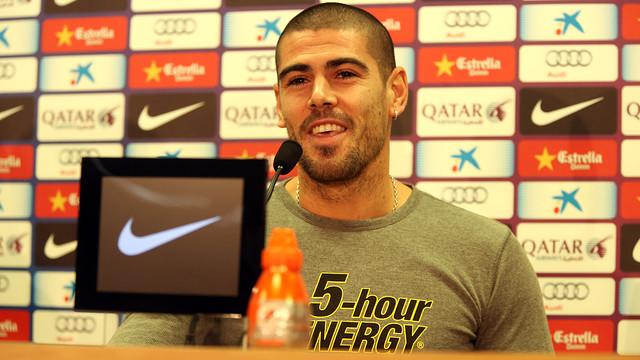 Valdés, en roda de premsa / FOTO: ARXIU FCB