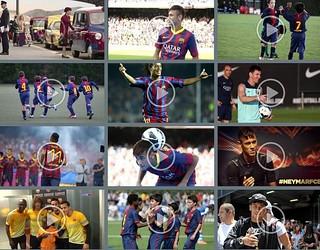 Captura dels 12 vídeos més vistos al Youtube del FC Barcelona durant el 2013