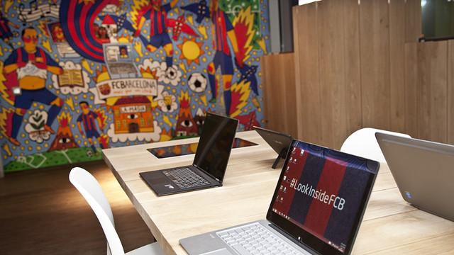 La Masia with Intel equipment / PHOTO: FCB
