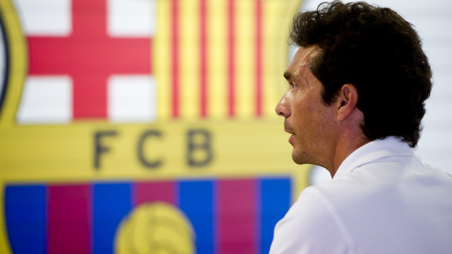 Guillermo Amor knows from his own experience what it means to be part of Barça. / PHOTO: ARCHIVE-FCB