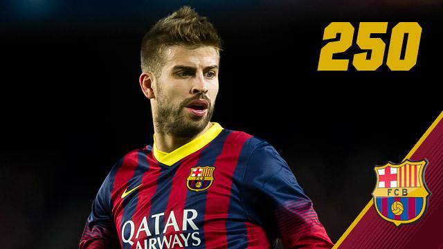 Imagen de Gerard Piqué que llegará a los 250 partidos con el Barça