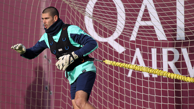 Valdés in the final session of 2013