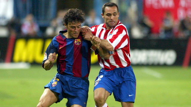 Luis Enrique and Sergi Barjuán / PHOTO: FCB