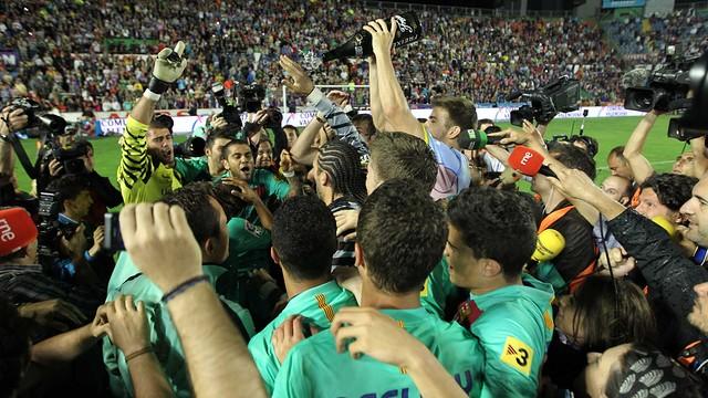 The 2010/11 league title was won at the Ciutat de València. PHOTO: MIGUEL RUIZ-FCB.