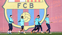 L'entrenament d'aquest divendres. FOTO: MIGUEL RUIZ-FCB.