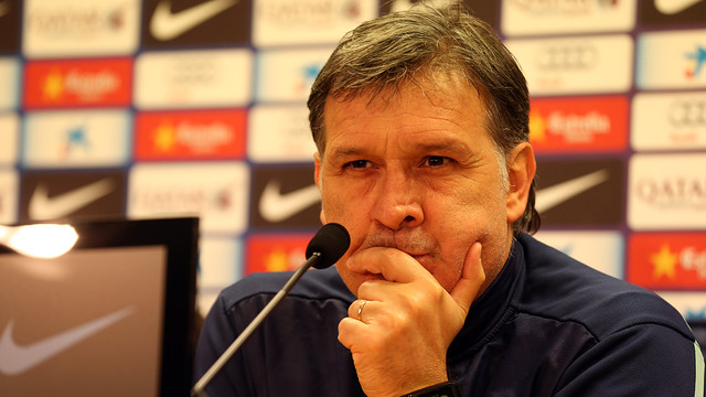 Martino during the press conference / PHOTO: MIGUEL RUIZ-FCB