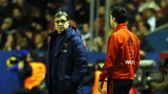 Martino during the match against Levante / PHOTO: MIGUEL RUIZ - FCB