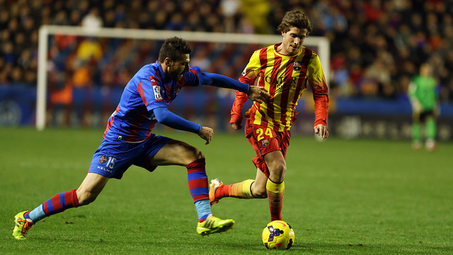 Sergi Roberto could start this evening / PHOTO: MIGUEL RUIZ-FCB