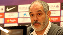Andoni Zubizarreta, at a press conference / PHOTO: MIGUEL RUIZ - FCB