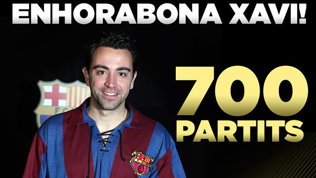 Tomorrow, before the match against Malaga, Xavi will be honoured for his 700 competitive matches for FC Barcelona e-MAS.Info