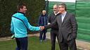 Leo Messi meets Jordi Mestre / PHOTO: MIGUEL RUIZ - FCB
