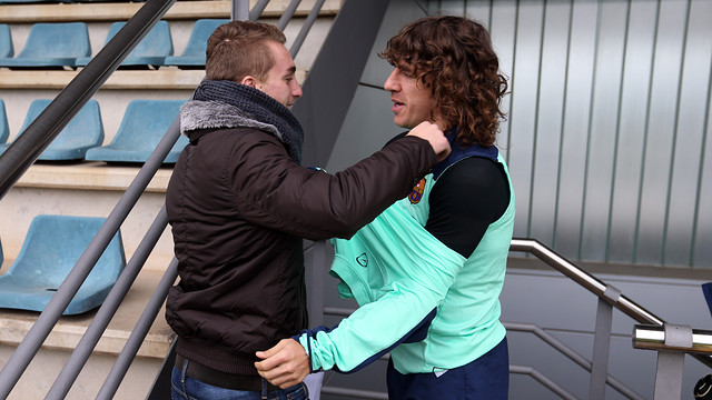 Deulofeu and Puyol / PHOTO: FCB ARCHIVE