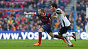 Iniesta and Parejo, during the match/ PHOTO: MIGUEL RUIZ-FCB