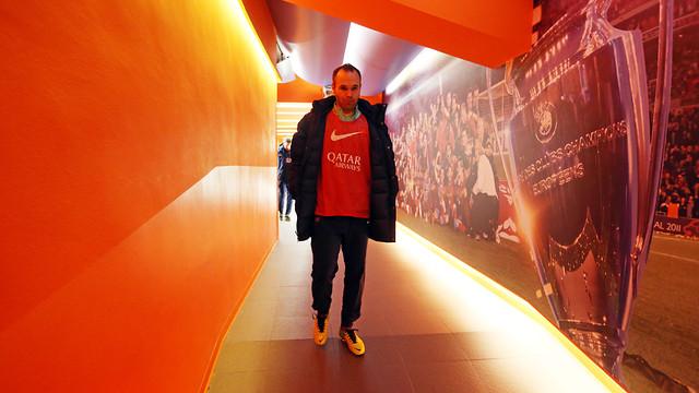 Iniesta, before the game / PHOTO: MIGUEL RUIZ-FCB