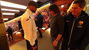 Keita and Puyol, before the match/ PHOTO: MIGUEL RUIZ-FCB