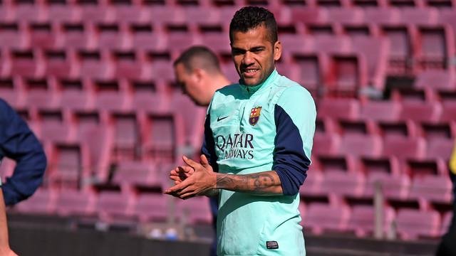 Dani Alves, at training/ PHOTO: MIGUEL RUIZ-FCB