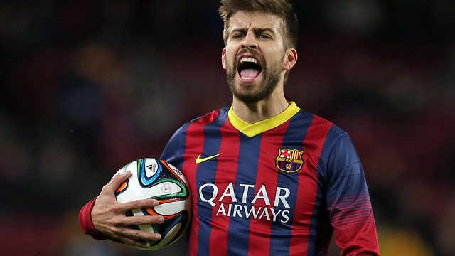 Gerard Piqué, during the game on Wednesday night / PHOTO: MIGUEL RUIZ-FCB