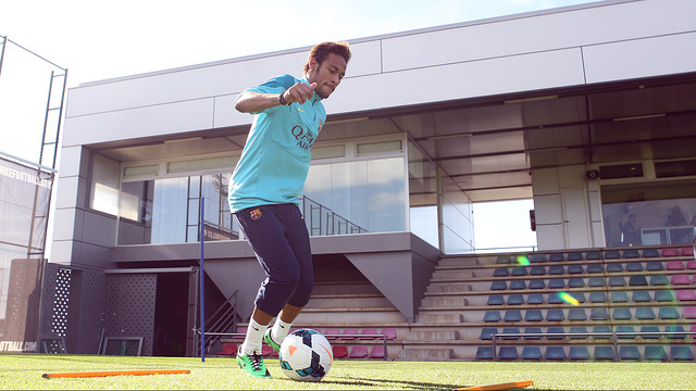 Neymar has been training with the squad this week / PHOTO: ARXIU FCB