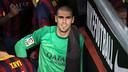 Valdés, at the Camp Nou / PHOTO: MIGUEL RUIZ-FCB