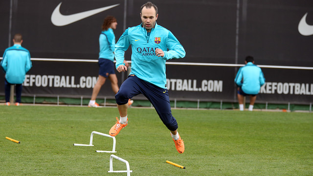 Andrés Iniesta is among the 18 named for the trip to Seville / PHOTO: MIGUEL RUIZ - FCB