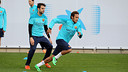 Neymar trained with the rest of the squad this morning / PHOTO: MIGUEL RUIZ - FCB