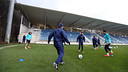 Five Barça players at the Zubieta Ciutat Esportiva  / PHOTO: MIGUEL RUIZ - FCB