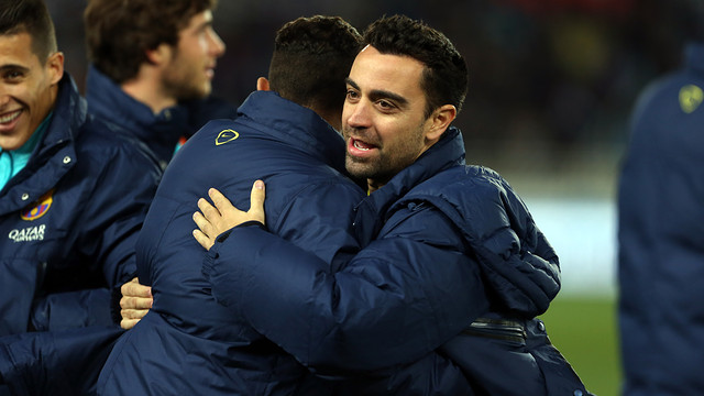 Xavi was among the players that featured at Anoeta. PHOTO: MIGUEL RUIZ-FCB.