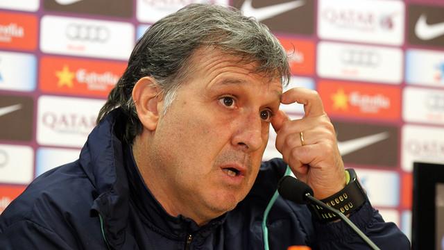 Martino spoke to the press on Friday / PHOTO: MIGUEL RUIZ-FCB