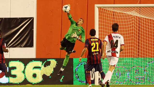 Valdés starred against Rayo earlier this season. PHOTO: MIGUEL RUIZ-FCB.