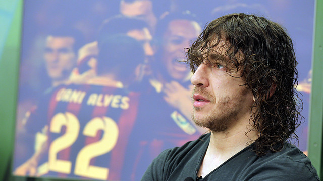 Carles Puyol has announced that he is leaving the club. PHOTO: MIGUEL RUIZ - FCB