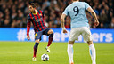 Jordi Alba, at the Etihad Stadium / PHOTO: MIGUEL RUIZ - FCB