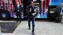 Neymar, en l'arribada a l'hotel de Sant Sebastià / FOTO: MIGUEL RUIZ-FCB